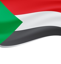 Waving flag of Sudan isolated on white vector image