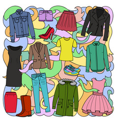Woman clothes colorful pattern vector