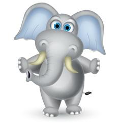 elephant cartoon posing vector image vector image