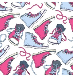 Sneakers Seamless background vector image vector image