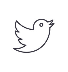 dovetwitter line icon sign vector image