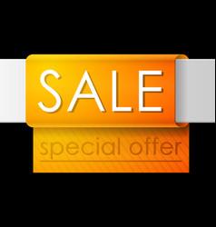 sale banner template design orange advertising vector image
