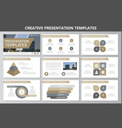 Set of brown elements for multipurpose vector