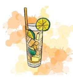 cocktail Long Island Ice Tea vector image vector image