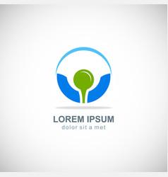 golf ball logo vector image
