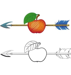 Arrow in Apple vector image vector image