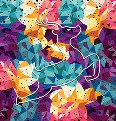 Deer colorful mosaic pattern vector