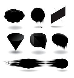 Fashion black speech bubble set vector image vector image
