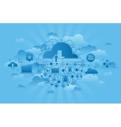 Global Computing Services blue vector image