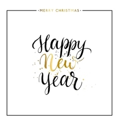Happy New Year gold text isolated vector image vector image