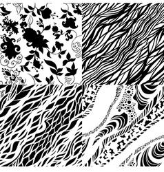 set of seamless pattrns vector image