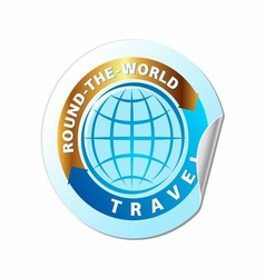 Travel The World Icon vector image vector image