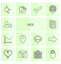 14 web icons vector