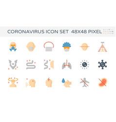 20200125 coronavirus icon cl2 vector image