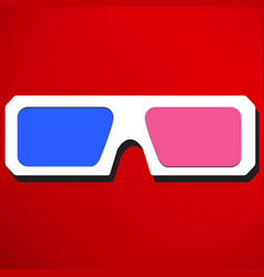 3d glasses icons vector image