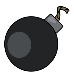 A ball bomb color vector