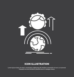 Abilities development female global online icon vector