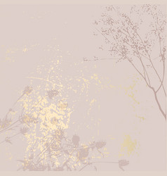 Abstract marble trendy texture in pastel and gold vector