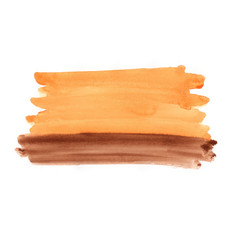Abstract orange and chocolate brown watercolor vector