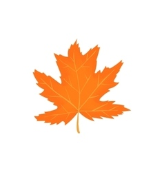 Autumn leaf icon cartoon style vector image