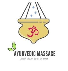 Ayurveda shirodhara treatment logo vector image
