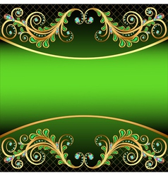 background with jewels and ornaments stripe for te vector image