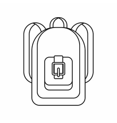 Backpack icon outline style vector