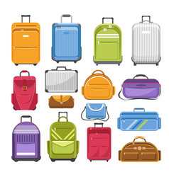 Bags different type models travel fashion or vector