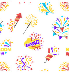 bang party and celebration of holiday seamless vector image