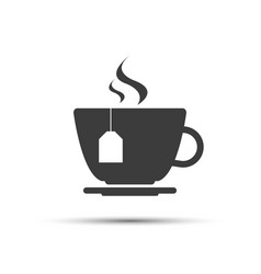 bigger cup of tea icon vector image