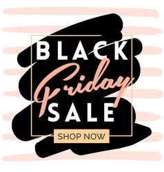 black friday sale inscription invitation banner vector image