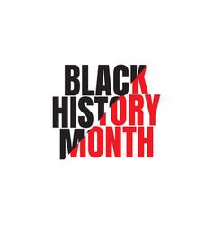 Black history month celebration template design vector