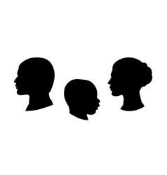 Black silhouette of family vector