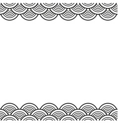 Black traditional wave japanese chinese border vector