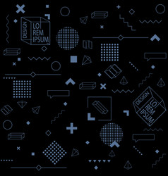 black trendy seamless background of geometric vector image