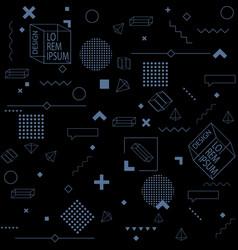 black trendy seamless background of geometric vector image