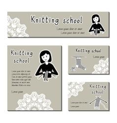 Black-white cards template for knitting vector