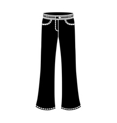 Blue jeans with a belthippy single icon in black vector