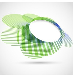 Bright green round advertisement template vector image