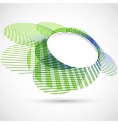 Bright green round advertisement template vector