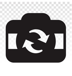 Change or switch camera icon for apps or website vector