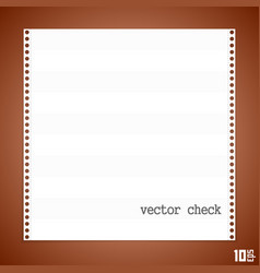 Check paper vector