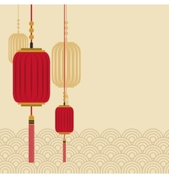 Chinese lanterns icon vector