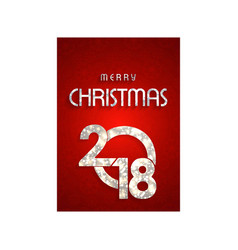 chrismtas card wiith red pattern background vector image
