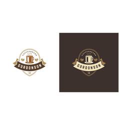 coffee or tea shop logo template vector image