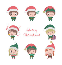 collection of cute little elves vector image