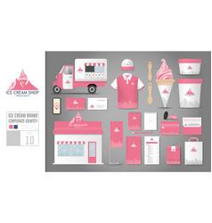 corporate identity template set 10 logo concept vector image