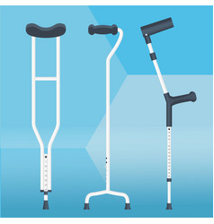 Crutches set physiotherapy vector
