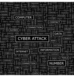 CYBER ATTACK vector image