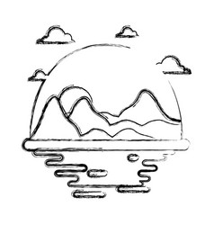 Desert scape cartoon vector